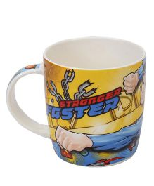 B Vishal Superman Mug - Blue And Yellow