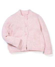 Mothercare Full Sleeves Light Pink Knitted Cardigan