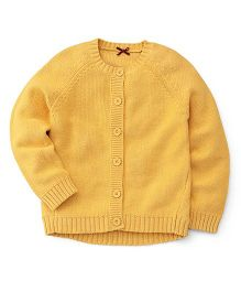 Mothercare Full Sleeves Reverse Knit Sweater - Golden