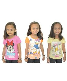 Disney Set of 3 Half Sleeves Tops - Assorted