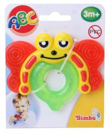 Simba Bee Shape Teething Toy - Green And Red