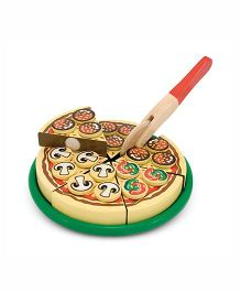 Melissa & Doug Wooden Pizza Party - Multicolor
