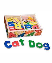 Melissa & Doug 52 Wooden Letter Alphabet Magnets - Multi Color