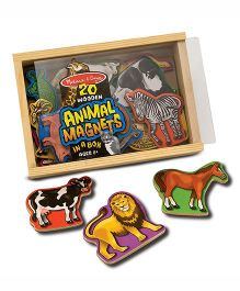 Melissa & Doug 20 Wooden Animal Magnets In A Box - Multicolor
