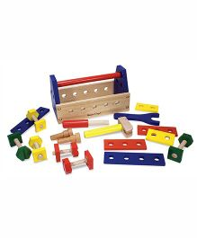 Melissa & Doug Take Along Tool Kit Wooden Toy - Multicolor