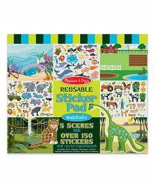Melissa & Doug Reusable Habitats Sticker Pad