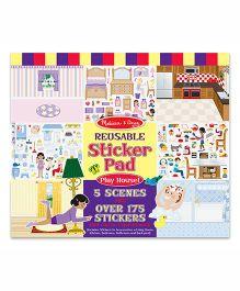 Melissa & Doug Reusable Playhouse Sticker Pad