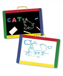 Melissa & Doug Magnetic Chalkboard and Dry Erase Board