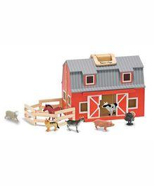 Melissa & Doug Fold and Go Wooden Barn