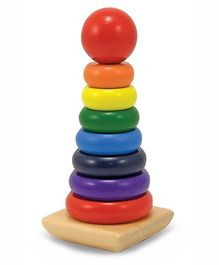 Melissa & Doug Wooden Rainbow Stacker