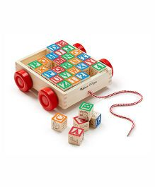 Melissa & Doug Classic ABC Block Cart - 30 Blocks