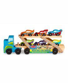 Melissa & Doug Mega Race Car Carrier with Six Race Cars