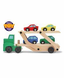 Melissa & Doug Car Carrier with Four Cars
