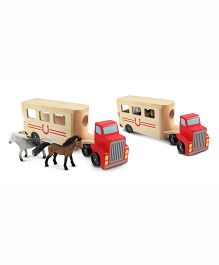 Melissa & Doug Horse Carrier - One Carrier with two Horses