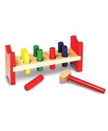 Melissa And Doug Pound A Peg Wooden Toy - Multicolor