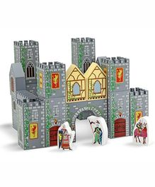Melissa And Doug Castle Blocks Play Set - Grey