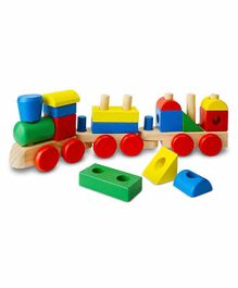 Melissa And Doug Stacking Train Wooden Toy - Multicolor