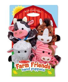 Melissa & Doug Hand Puppets Set of 4 - Farm Friend Theme