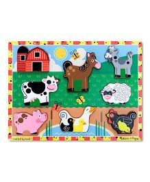 Melissa And Doug Chunky Farm Puzzle