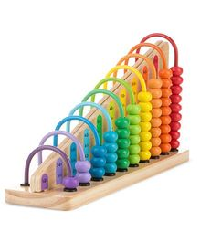 Melissa & Doug Add And Subtract Wooden Abacus