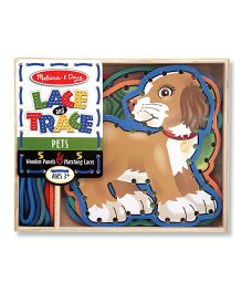 Melissa & Doug Lace And Trace Pets - Wooden