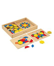 Melissa & Doug Wooden Pattern Blocks And Boards