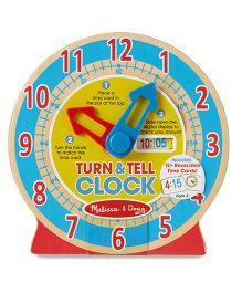 Melissa & Doug Turn And Till Wooden Clock