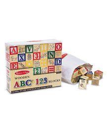 Melissa & Doug Wooden ABC & 123 Blocks - Multicolor