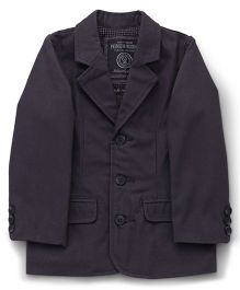 Mothercare Full Sleeves Blazer - Dark Grey
