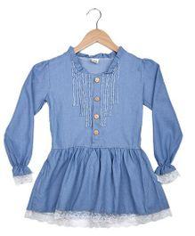 Superfie Denim Dress - Blue