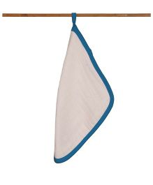 Mulmul Naturals Wash Cloths - White Blue