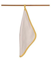 Mulmul Naturals Wash Cloths - White Yellow