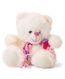 Funzoo Tango Teddy Bear With Muffler Soft Toy Cream - Height  10 Inches