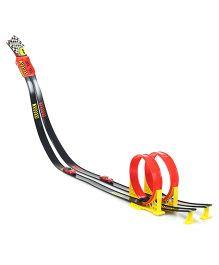 Bburago Ferrari Race And Play Loop Set - Red And Black