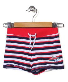 Mothercare Nautical Striped Boat Swim Trunks - Red & Navy