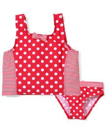 Mothercare Tankini Swim Top And Bottom Set - Red