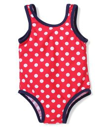Mothercare Sleeveless Swimsuit Polka Dot Print - Red