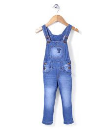 Vitamins Sleeveless Denim Jumpsuit - Light Blue