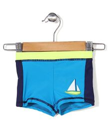 Mothercare Swim Shorts Boat Print - Dark Blue