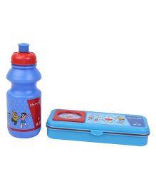 Doraemon Sipper Bottle and Pencil Box Set - Blue