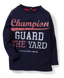 Pumpkin Patch Full Sleeves T-Shirt Champion Print - Blue