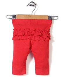 Pumpkin Patch Full Length Leggings - Red