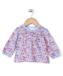 Pumpkin Patch Full Sleeves Top Floral Print - Blue