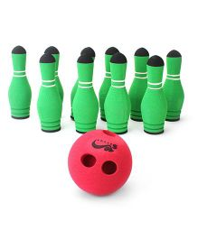 Safsof Mini Bowling Pin - Red And Green