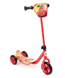 Disney Pixar Cars Three Wheel Scooter - Red