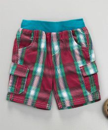 Mothercare Checkered Shorts - Multicolor