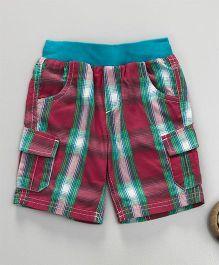 Mothercare Checkered Shorts - Multicolor