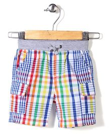 Mothercare Rib Waist Shorts Checks - Multicolor