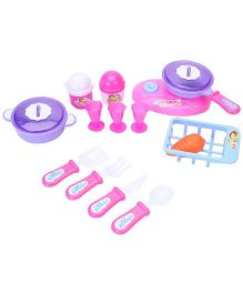 Sunny Candy's Family Kitchen Set - Pink And Purple