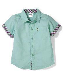 Babyhug Half Sleeves Shirt - Green
